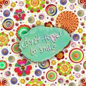 Motivational background with slogan — Stock Photo