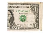 Bir dolarlık banknot — Stok fotoğraf