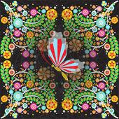Decorative flowers card — Stock Photo