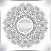 Round lace floral pattern — Stock Photo