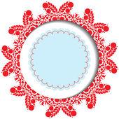 Snowflake christmas card — Stock Photo
