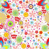 Colorful floral pattern — Stock Photo