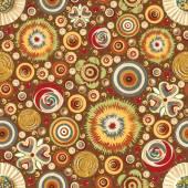 Fashionable flowers  pattern wallpaper — Stock Photo