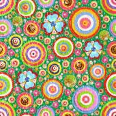 Fashionable flowers seamless wallpaper — Stock Photo