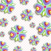 Abstract flowers pattern background — Stock Photo