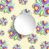 Abstract flowers pattern with frame — Stock Photo