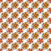 Abstract flowers pattern background — Foto Stock