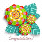 Abstract flowers card — Stock Photo