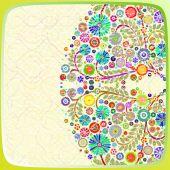 Decorative Floral frame — Stock Photo