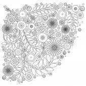 Elementos de design floral — Fotografia Stock