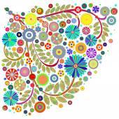 Elementi di design floreale — Foto Stock