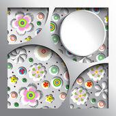 几何鲜花背景 — 图库照片