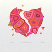 Geometric heart background — Стоковое фото