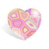 Geometric heart background — 图库照片