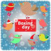 Boxing day banner. — Foto de Stock