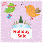 Holiday sale banner — Foto de Stock