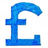 Pound GBP. Handmade icon — 图库照片