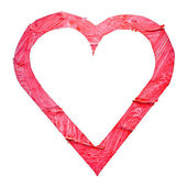 Watercolor red heart — Stock Photo