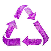 Purple Recycle sign — Stock Photo