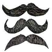 Hipster mustache set — Stock Photo