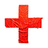 Red cross sign — Stock Photo