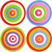 Set of color circles — Stock Photo