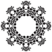 Round black lace pattern — Stock Photo