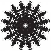Round black lace pattern — 图库照片