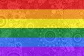 Gay and LGBT rainbow flag. — Stock Photo