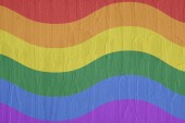 Gay and LGBT rainbow flag. — Stock Photo
