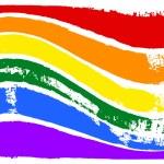Gay and LGBT rainbow flag. — Stock Photo #65303927