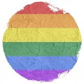 Gay and LGBT rainbow flag — Stock Photo