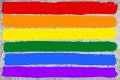 Gay and LGBT rainbow flag — Photo