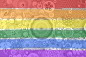 Gay and LGBT rainbow flag — Stockfoto