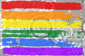 Gay and LGBT rainbow flag — Stock Photo