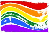 Gay and LGBT rainbow flag. — Photo