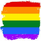 Gay and LGBT rainbow flag — Photo