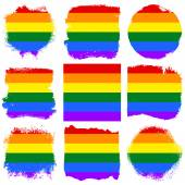 Gay and  LGBT flag set — Stockfoto