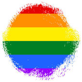Gay and LGBT rainbow flag — Fotografia Stock