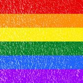 Gay and LGBT rainbow flag — Stok fotoğraf