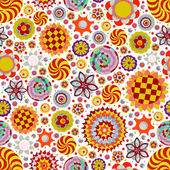 Abstract seamless flowers pattern — Stock Photo