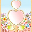 Flowers and heart — Stock Photo #65352051