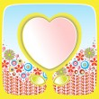 Flowers and heart — Stock Photo #65352055