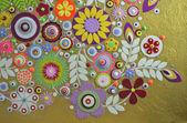 Original floral design — Stock Photo