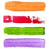 Watercolor various color banners — Stock Photo