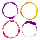 Set of grunge circles — Stock Photo