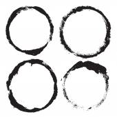 Set of grunge circles — Stock Photo