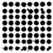 Ink blots collection — Stock Vector