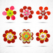 Abstract flowers icons set — Stock Vector #68380763