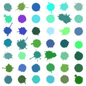 Set of color blots — Stock Vector